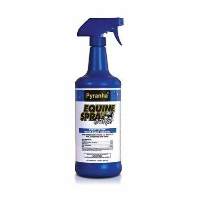Pyranha Spray N' Wipe Fly Spray Kills & Repels Insects Plus Conditions coat 32oz