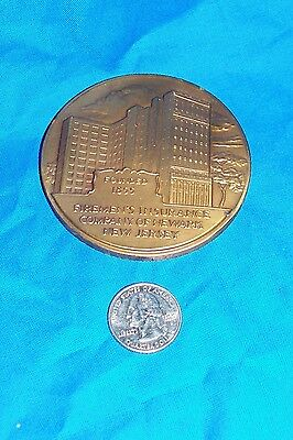 1955 Firemen's Insurance Co 100 Year Medallion Emblem Collectible Ad Advertising