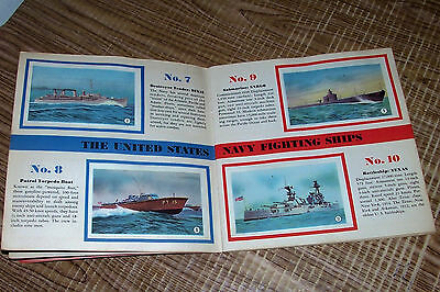 1942 WWII Tydol Gas Veedol Motor Oil Fighting Ships of the USA Stamp Book Ad 2