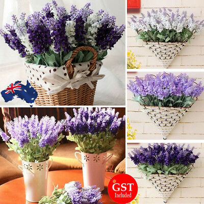 6x Artificial Bouquet Lavender Plant Flower Wedding Party Home Decor Flower DIY