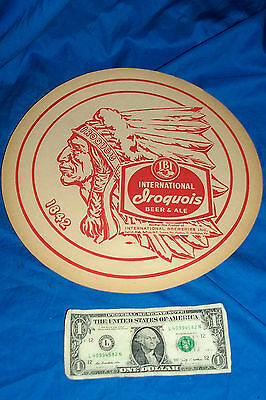 International Iroquois Beer Ale Tray Coaster 1842 Breweries Old Vintage Bar IBI