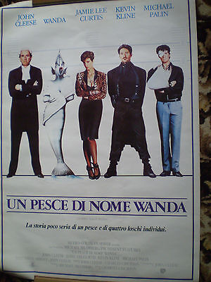 "A FISH CALLED WANDA FILM POSTER [ITALIAN]  27 1/2"" x 39 1/4"" - J. CLEESE"