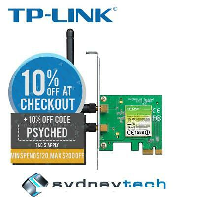 New TP-Link TL-WN881ND 300MBPS Wireless N PCI Express Adapter
