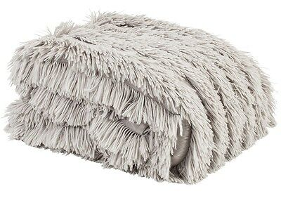 New Ladelle Chateau Silver Grey Long Haired Faux Fur Throw - 127cm x 152cm