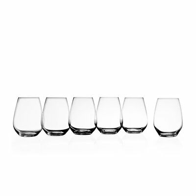 NEW Krosno Vinoteca Stemless Red Wine Glass Set of 6 (RRP $40)