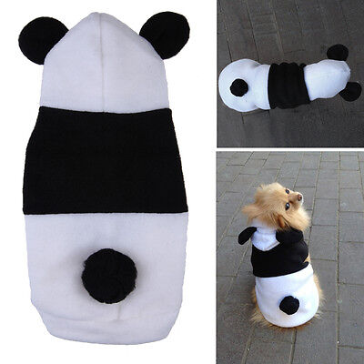 Cute Fleece Panda Clothes Warm Coat Costume Outwear Apparel for Pet Dog Cat