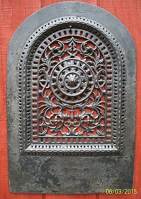 """Real Nice, Extra Fancy, Arch Top Wall Grate, 18"""" X 27"""""""