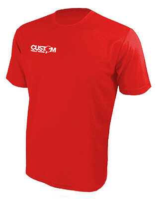 Custom Table Tennis Pro Match Shirt Red Crazy Clearance Price! Uk Fast