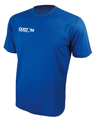 Custom Table Tennis Pro Match Shirt Blue Crazy Clearance Price! Uk Fast