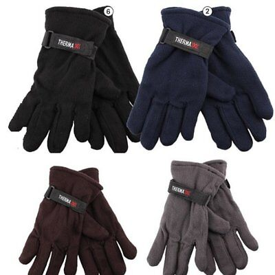144 Pairs Mens Fleece Gloves Assorted Thermal Insulated Winter WHOLESALE LOT