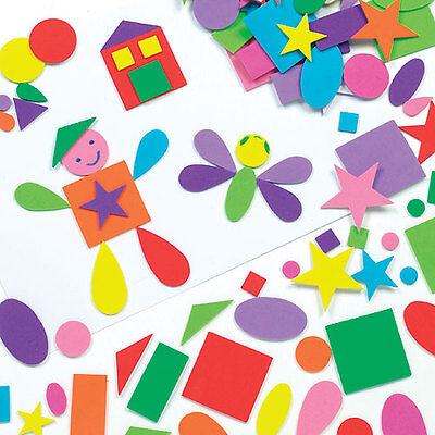 Self-Adhesive Foam Shapes for Kid's Collage Crafts & Card Making (Pack of 180)