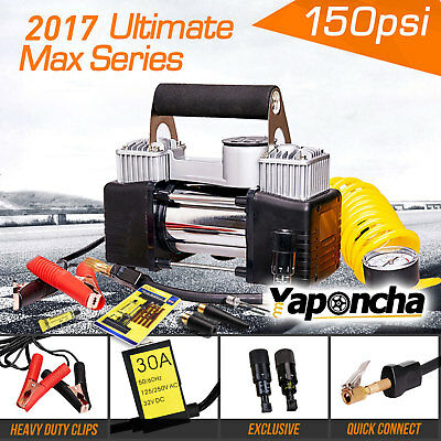 New Yaponcha 12V Portable Air Compressor Car Tyre Inflator Deflator 4Wd 150Psi