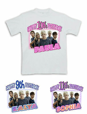 R5 HAPPY BIRTHDAY T-SHIRT #4 Personalized Name/Age Ross Lynch Toddler to Adult