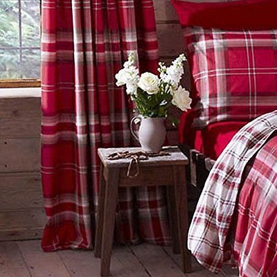 "Catherine Lansfield Kelso Tartan Check 66""x72"" Curtains Various Colours"