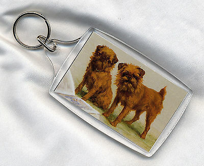 Brussels Griffon Great Little Dog Print Image In A Key Ring Key Fob Nice Gift