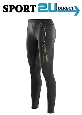 [bargain] Skins Compression A400 Womens Long Tights ( Black / Gold ) | NEW!