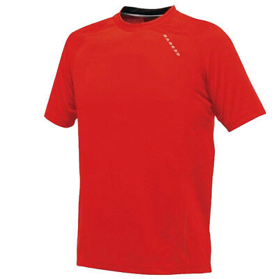 Dare2b T shirts Mens Audacious Breathable Tee Bike Cycling Gym Sport Fiery Red