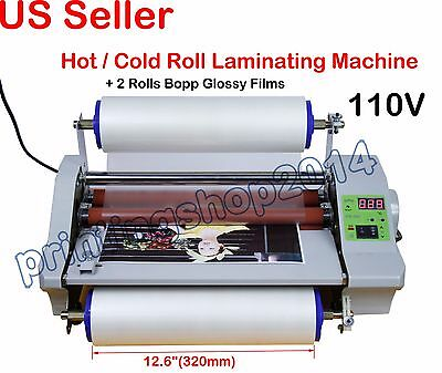 110V Hot Thermal Laminator Machine With Digital Control+2Rolls Bopp Glossy Films