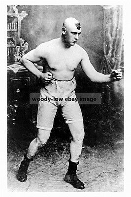 pt2534 - Boxing Champ Iron Hague , Mexborough , Yorkshire - photograph 6x4
