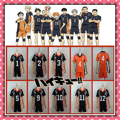 ★ HAIKYUU KARASUMO HIGH SCHOOL VOLLEYBALL CLUB divisa uniform anime cosplay