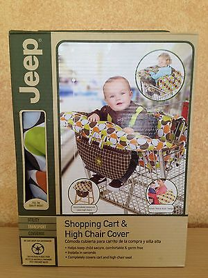 Jeep Shopping Cart High Chair Cover Zipper Pocket Carry Handle Neutral Color