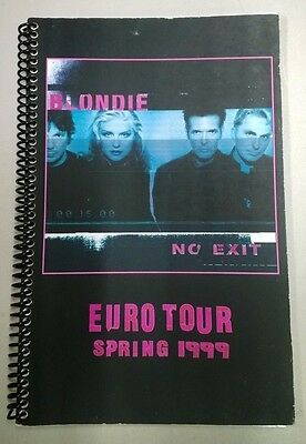 "BLONDIE ""No Exit"" EURO TOUR Itinerary - Spring 1999"