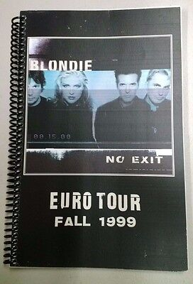 "BLONDIE ""No Exit"" EURO TOUR Itinerary - Fall 1999"