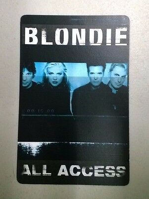 "BLONDIE ""No Exit"" 1999 Tour - ALL ACCESS Pass"