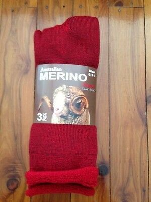 3 Pairs Heavy Duty Australia Merino Extra Thick Wool Work Socks 6-11