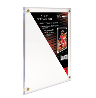 "Ultra-Pro 5"" x 7"" Screwdown Holder Photo Picture Card Case 4 Screw Slab Design"