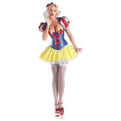 Snow White Costume Adult Fairytale Princess Outfit Halloween Fancy Dress