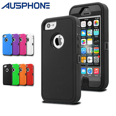 Heavy Duty Shockproof Silicone Tough Hard Case Cover For Apple iPhone X 7 8 Plus