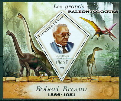 Mali - Dinosaurs and paleontologists - a complete set 3val sheets and s/s
