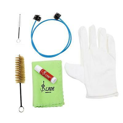 Brasswind Instrument Trumpet Trombone Tuba Horn Cleaning Set Kit Tool