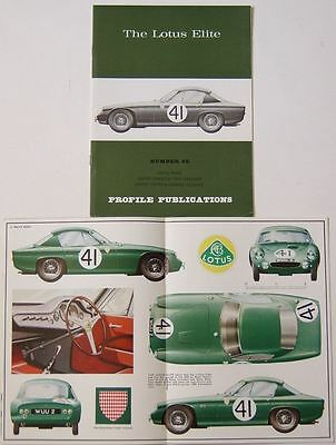 Lotus Elite Profile Publication Number 48 12 pp colour booklet + Racing, Le Mans