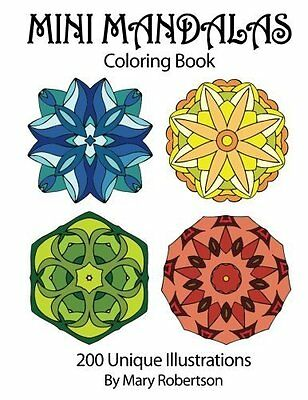 Mini Mandalas Adult Colouring Book Patterns Art Therapy Creative Healing Calm