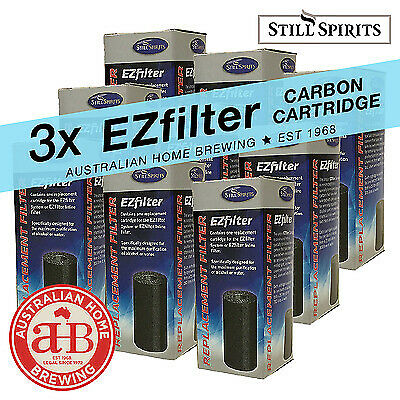 Still Spirits EZ Filter Carbon Cartridge x3 activated carbon  homebrew spirits