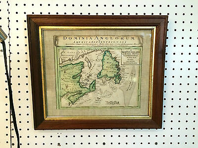 Dominia Anglorum Framed Map America Septentrionali 16X14""