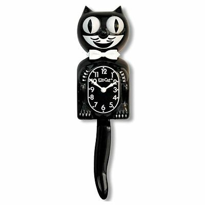 """Classic BLACK KIT CAT CLOCK 15.5"""" Full Size Authentic Made in the USA"""