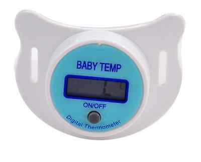 LCD Digital Baby Infant Kid Dummy Pacifier Thermometer Temperature Nipple Soft B