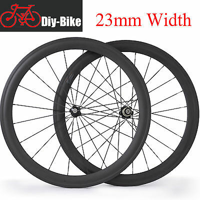 Carbonnoe Bicycle Wheelset  50mm bici Strada Ruote Carbonio Clincher Wheels 700C