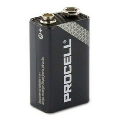 1 x Duracell Industrial Battery 006 P9V 006P 9V effector angle battery
