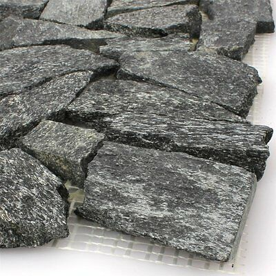 Natural Stone Quartzite Mosaic Tiles Black