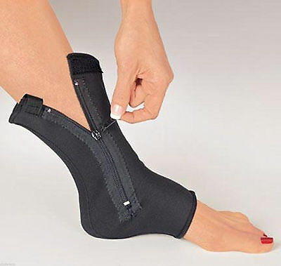 North American Ankle Compression x 2  Support Zipper Similar to Ankle Genie LG
