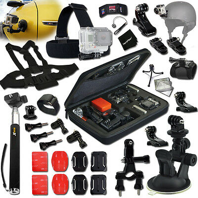 Xtech Accessories KIT for GoPro Hero 3 Black Edition MOTORCYCLE w/ Case + MORE