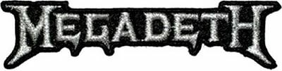 Megadeath - Silver Logo - Embroidered Patch - Brand New - Music Band 1319