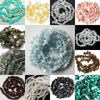 "Natural 6-7MM Freeform Chips Jewelry Making Gemstone Loose Beads Strand 16"" DIY"