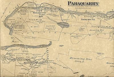 Pahaquarry Delaware Station Millbrook NJ 1874 Maps with Homeowners Names Shown