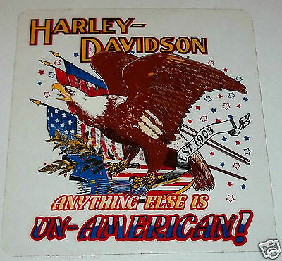 Harley Davidson Anything Else is Un-American Decal window sticker inside