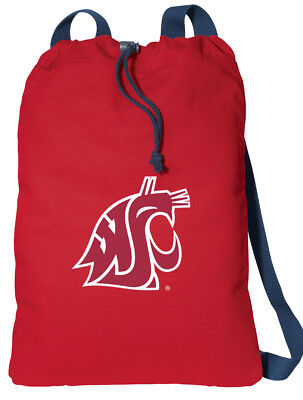 Washington State Drawstring Backpack COMFORTABLE COTTON! NOT CHEAP NYLON! e3a3288d9f05